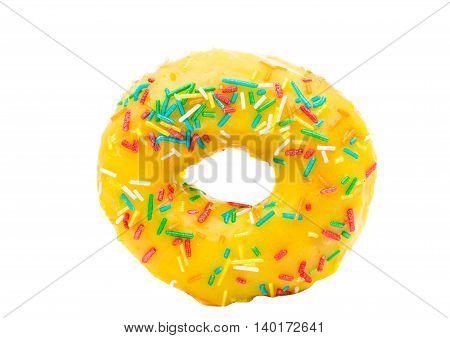donut glaze baked on a white background