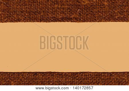 Textile weft fabric products ochre canvas hemp material art background