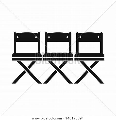 Chairs icon in simple style isolated on white background. Furniture symbol