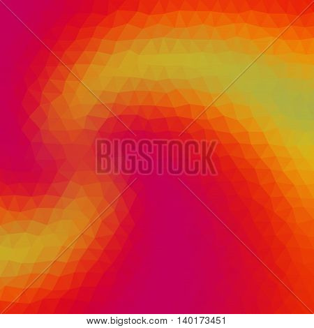 Gradient Low Poly Triangle Style Vector Mosaic Background