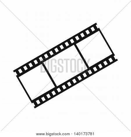 Film with frames icon in simple style isolated on white background. Video symbol