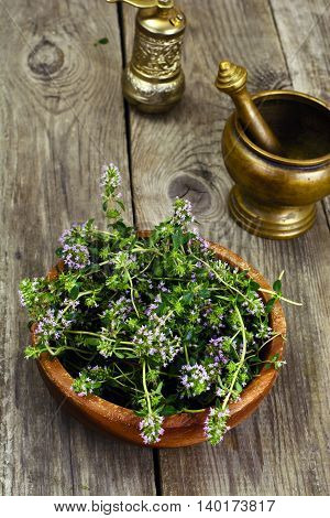 Flowers and Stems of Thyme Studio Photo