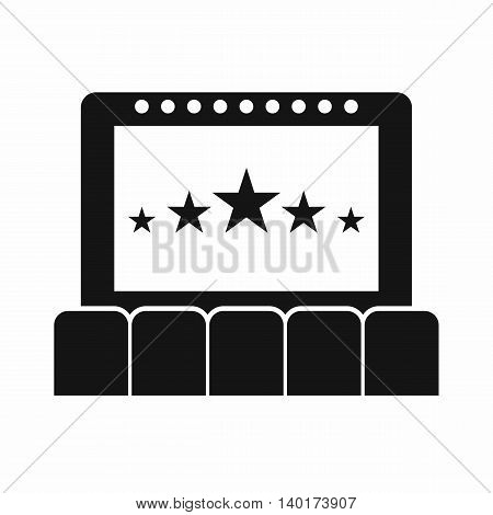 Cinema icon in simple style isolated on white background. Watching film symbol