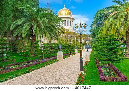 The Bahai Garden is the best place to enjoy the beauty of nature and landscapers' talent Haifa Israel.