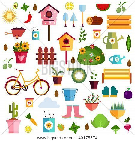 Garden pattern nature flat Illustration EPS 10.