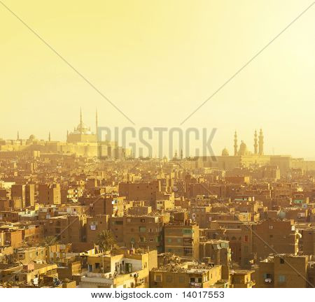 Arabian city in yellow gamma. Cairo