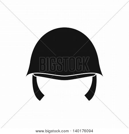 Military helmet icon in simple style isolated on white background. Uniforms symbol