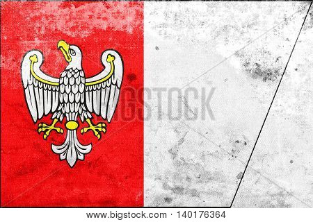 Flag Of Greater Poland Voivodeship, Poland, With A Vintage And O