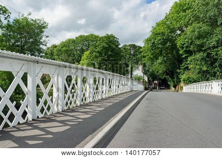 An old bridge over the river Thames at Pangbourne in Berkshire.