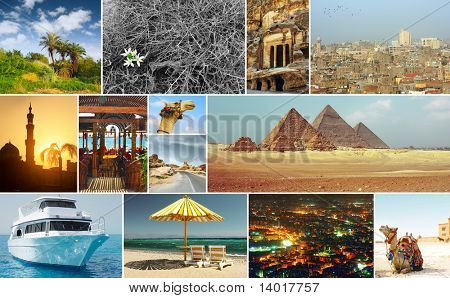 Oriental world. Group of pictures with arabic theme.