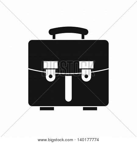 Diplomat bag icon in simple style isolated on white background. Briefcase symbol
