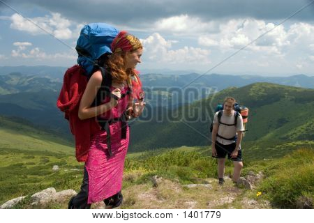 Couple Of Backpackers