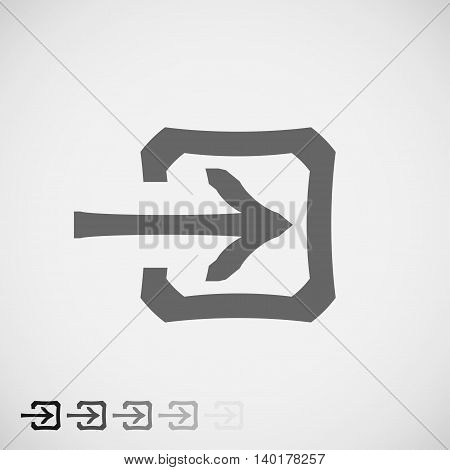 Login Icon in trendy flat style isolated on grey background. Approach symbol for your web site design logo app UI. Vector Illustration