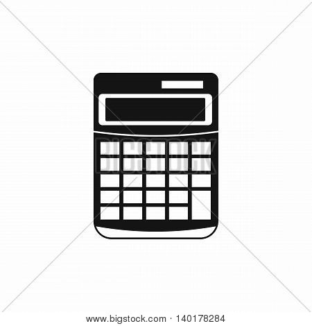 Calculator icon in simple style isolated on white background. Math symbol