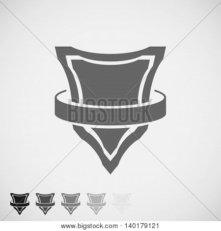 Shield Icon with round belt. Vector Illustration