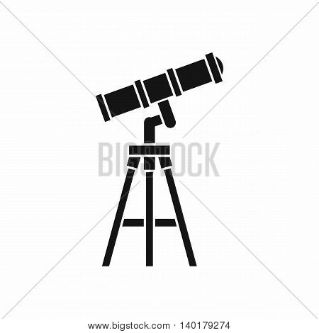 Telescope icon in simple style isolated on white background. Observation symbol