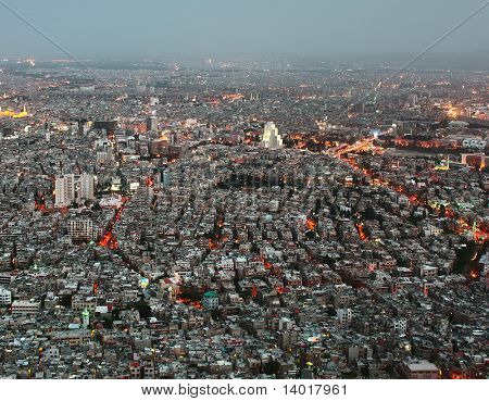 Evening view of city. Damascus