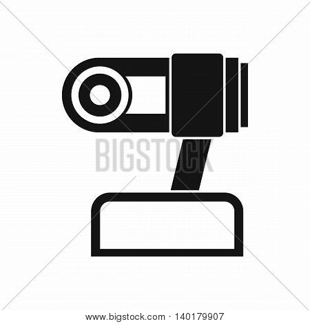 Webcam icon in simple style isolated on white background. Video symbol