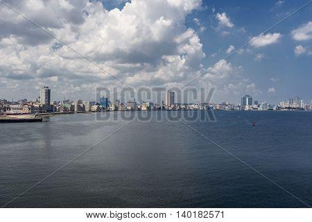 Panoramic Image Of The City Of Havana