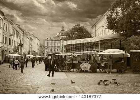 LVIV UKRAINE - MAY 8 2016: A place called
