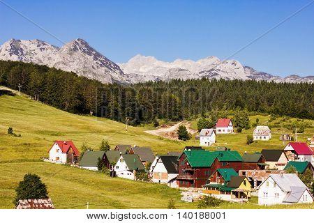 Nature Mountain Landscape Village Montenegro
