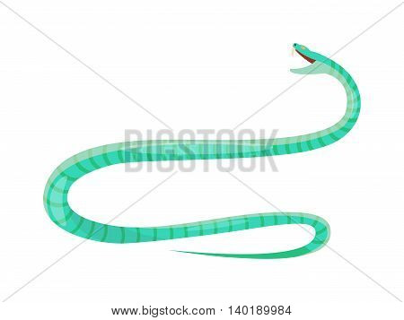 Vector viper snake flat style. Flat viper snake skin pattern. Poisonous reptyle vector icon