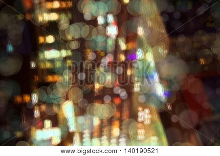 background image of abstract city at night