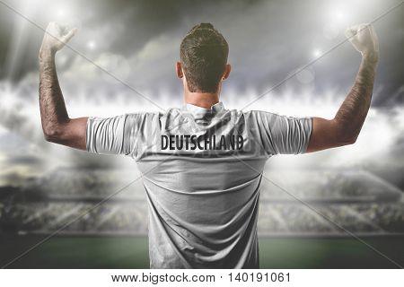 Athlete on Germany uniform