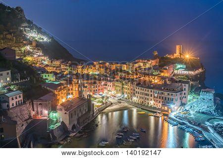 Evening in Vernazza Italy in Cinque Terre