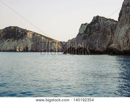 Beautiful Turquoise Water Of Of Lefkada Island In Greece