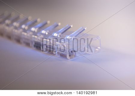 Home Network Connectors On White Background