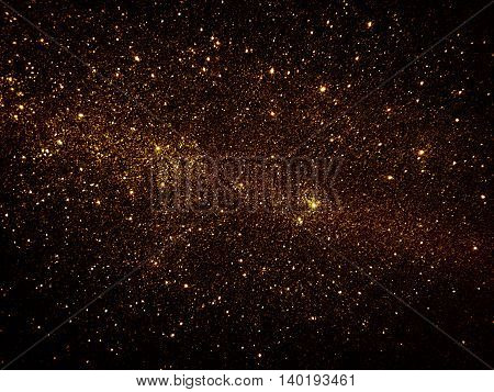 Black and gold gradient Galaxy glitter texture background