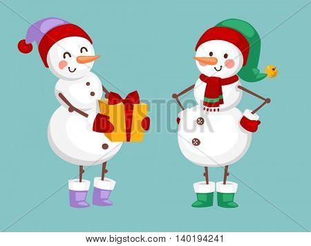 Cartoon snowman character