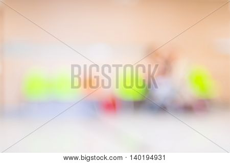Blurred Patient Waiting For See Doctor,abstract Background