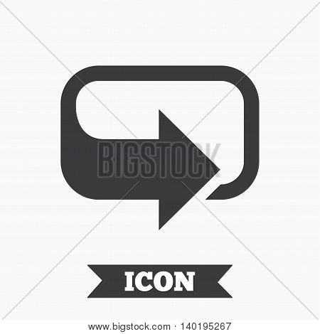 Rotation icon. Repeat symbol. Refresh sign. Graphic design element. Flat rotation symbol on white background. Vector