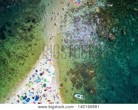 Top View of Paradise Beach