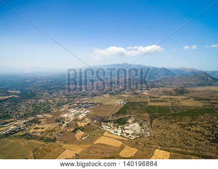 Aerial View of Sicily in Italy