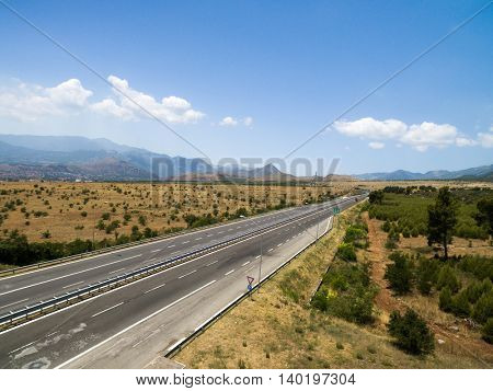 Sicily Highway in Italy