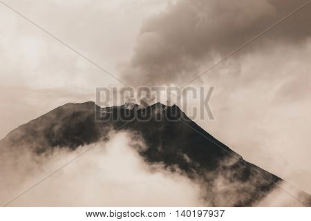 Tungurahua Volcano One Of The Most Active Volcanoes In Ecuador
