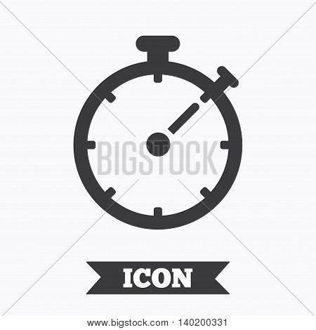 Timer sign icon. Stopwatch symbol. Graphic design element. Flat timer symbol on white background. Vector