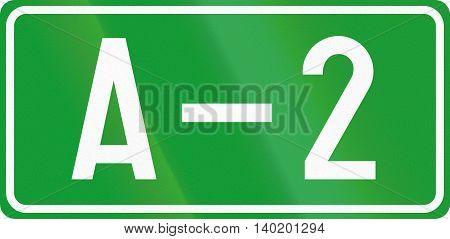 Numbered Motorway Shield In Bosnia And Herzegovina
