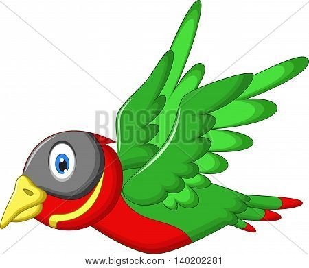 cute sparrow cartoon flying for you design