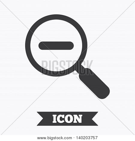 Magnifier glass sign icon. Zoom tool button. Navigation search symbol. Graphic design element. Flat find symbol on white background. Vector