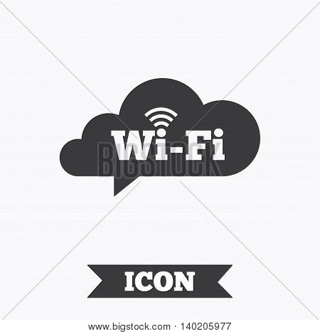 Free wifi sign. Wifi symbol. Wireless Network icon. Wifi zone. Graphic design element. Flat wireless internet symbol on white background. Vector