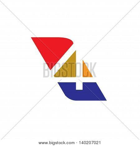Number four logo. Logo 4 colorful vector template. Number logo design