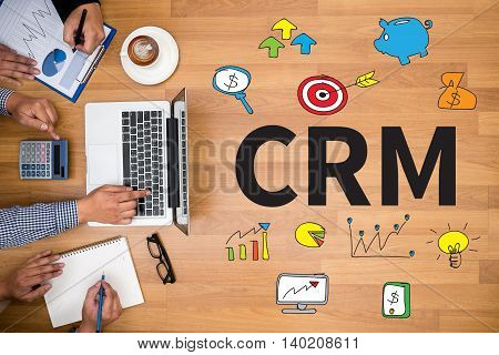 Crm  Business Customer Crm Management Analysis Service Concept
