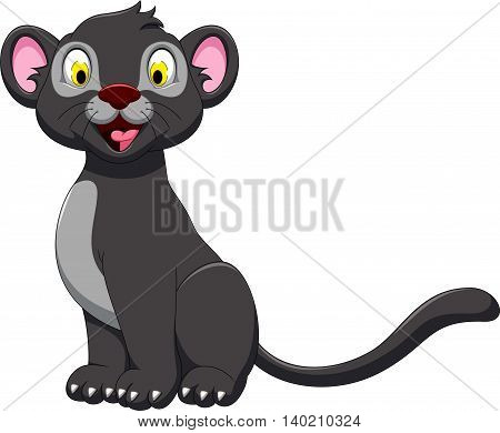 cute black panther posing for you design