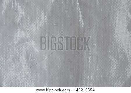 close up of white sack bag texture and background
