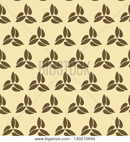 Seamless ornament. Modern geometric pattern with repeating brown elements