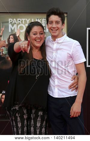 LOS ANGELES - JUL 26:  Camryn Manheim, Milo Manheim at the